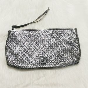 Elliot Lucca Woven Leather Clutch